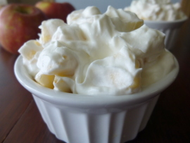 Apples and Homemade Whipped Cream