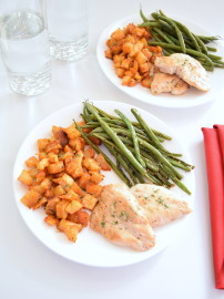 Easy Chicken, Green Beans, and Country Potatoes